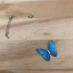 Handmade butterfly choker necklace